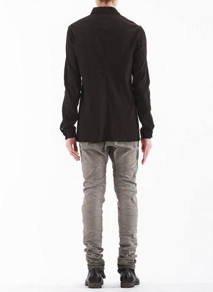M.A Macross Maurizio Amadei Men Fitted Shirt H102 LE2 Herren Hemd Linen Em black hide m 5