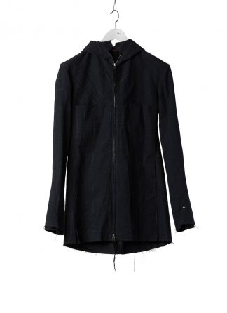 M.A Macross Maurizio Amadei Men Long Hooded Zipped Jacket J222DZHL CSQ Herren Jacke cotton dark blue hide m 2
