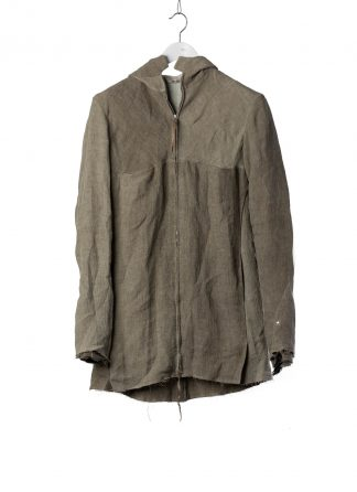 M.A Macross Maurizio Amadei Men Long Hooded Zipped Jacket J222DZHL LM7 Herren Jacke linen coal hide m 2