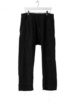 M.A Macross Maurizio Amadei Men Low Crotch 2 pocket pants P510 LWX Herren Hose waxed linen black hide m 2