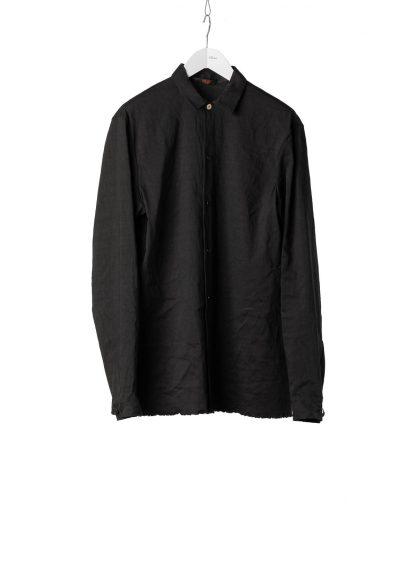 M.A Macross Maurizio Amadei Men Medium Fit Shirt H221 LE2 Herren Hemd Linen Em black hide m 2