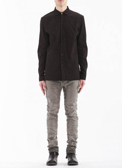 M.A Macross Maurizio Amadei Men Medium Fit Shirt H221 LE2 Herren Hemd Linen Em black hide m 3