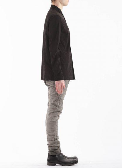 M.A Macross Maurizio Amadei Men Medium Fit Shirt H221 LE2 Herren Hemd Linen Em black hide m 4