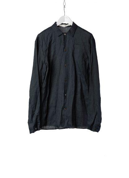 M.A Macross Maurizio Amadei Men Medium Fit Shirt H221 Oj029 sartor limited unique exclusive exclusively Herren Hemd japanese kimonos dark blue ramie hide m 2