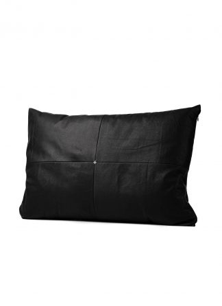 M.A Maurizio Amadei exclusive pillow case cases 40x80 kissen bezug kissenbezuge made in italy soft calf leather black hide m 2