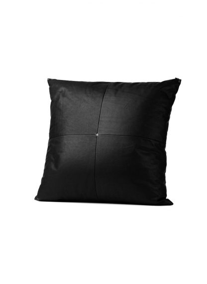 M.A Maurizio Amadei exclusive pillow case cases 50x50 kissen bezug kissenbezuge made in italy soft calf leather black hide m 2