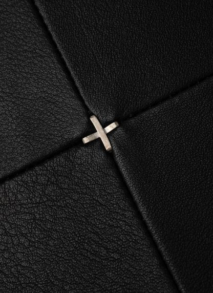 M.A Maurizio Amadei exclusive pillow case cases 50x50 kissen bezug kissenbezuge made in italy soft calf leather black hide m 3