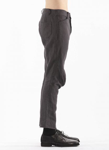PROPOSITION CLOTHING Men Articulated Trousers Pants Herren Hose CL 0016 dead stock ramie dark grey hide m 4