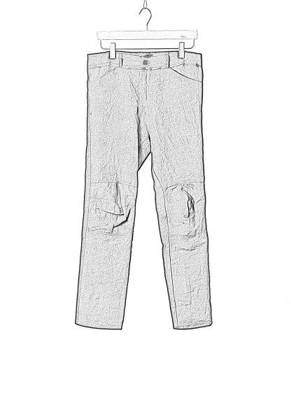 PROPOSITION CLOTHING Men Articulated Trousers Pants Herren Hose CL 0016 overdyed linen black hide m 1