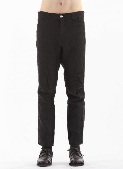 PROPOSITION CLOTHING Men Articulated Trousers Pants Herren Hose CL 0016 overdyed linen black hide m 3