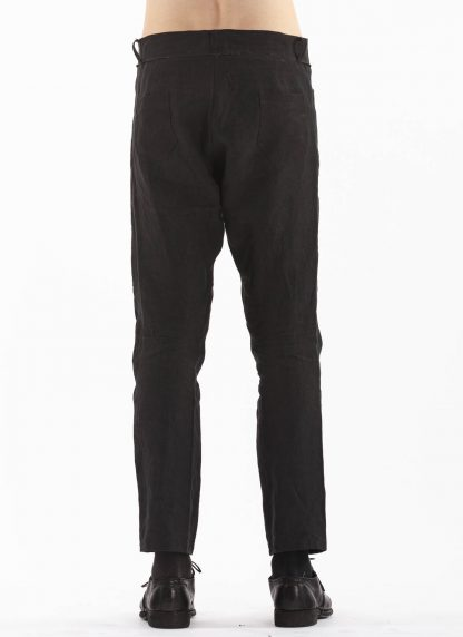 PROPOSITION CLOTHING Men Articulated Trousers Pants Herren Hose CL 0016 overdyed linen black hide m 5