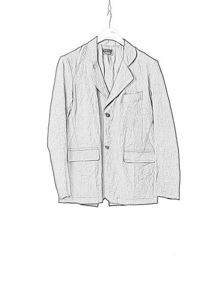 PROPOSITION CLOTHING Men Blazer Tailored Jacket CL 0125 antique linen black hide m 1