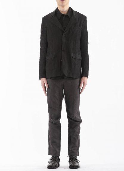 PROPOSITION CLOTHING Men Blazer Tailored Jacket CL 0125 antique linen black hide m 3