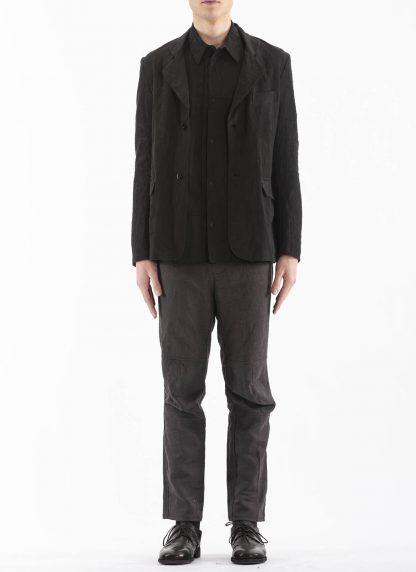 PROPOSITION CLOTHING Men Blazer Tailored Jacket CL 0125 antique linen black hide m 4