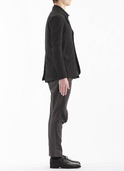 PROPOSITION CLOTHING Men Blazer Tailored Jacket CL 0125 antique linen black hide m 5