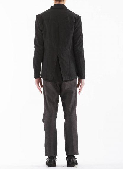 PROPOSITION CLOTHING Men Blazer Tailored Jacket CL 0125 antique linen black hide m 6
