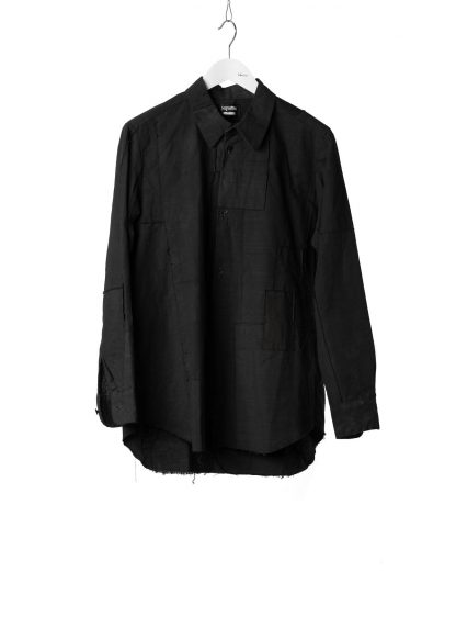 PROPOSITION CLOTHING Men Button Down Shirt Herren Hemd CL 0132 overdyed cotton black hide m 10