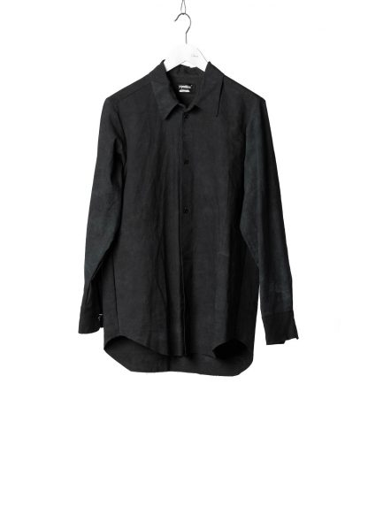 PROPOSITION CLOTHING Men Button Down Shirt Herren Hemd CL 0132 overdyed cotton black hide m 2
