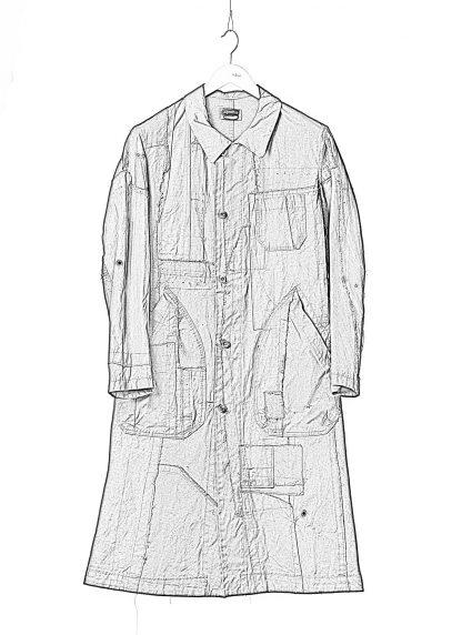 PROPOSITION CLOTHING Men Dust Coat Raincoat Herren Mantel CL 0165 overdyed vintage cotton shower proof black hide m 1