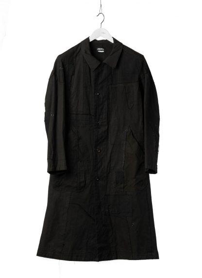 PROPOSITION CLOTHING Men Dust Coat Raincoat Herren Mantel CL 0165 overdyed vintage cotton shower proof black hide m 2