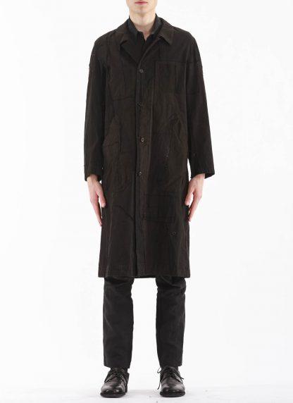 PROPOSITION CLOTHING Men Dust Coat Raincoat Herren Mantel CL 0165 overdyed vintage cotton shower proof black hide m 3