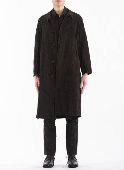 PROPOSITION CLOTHING Men Dust Coat Raincoat Herren Mantel CL 0165 overdyed vintage cotton shower proof black hide m 4
