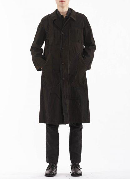 PROPOSITION CLOTHING Men Dust Coat Raincoat Herren Mantel CL 0165 overdyed vintage cotton shower proof black hide m 5