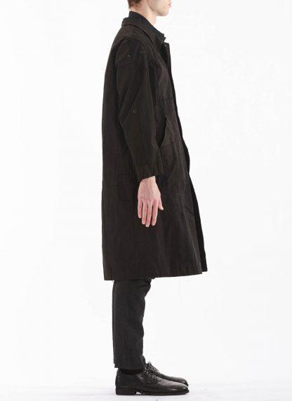 PROPOSITION CLOTHING Men Dust Coat Raincoat Herren Mantel CL 0165 overdyed vintage cotton shower proof black hide m 6