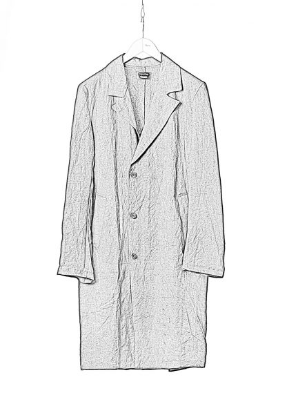PROPOSITION CLOTHING Men Shop Coat Jacket Herren Mantel CL 0127 antique linen black hide m 1