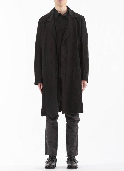 PROPOSITION CLOTHING Men Shop Coat Jacket Herren Mantel CL 0127 antique linen black hide m 3