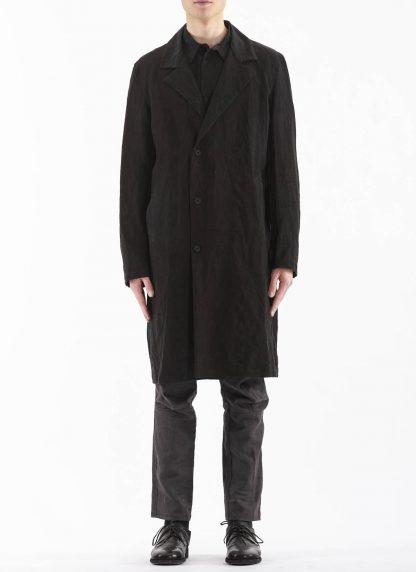PROPOSITION CLOTHING Men Shop Coat Jacket Herren Mantel CL 0127 antique linen black hide m 4