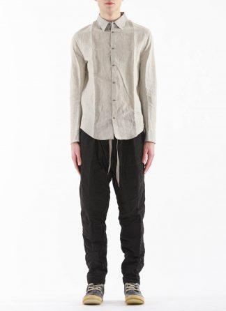 TAICHI MURAKAMI Men Inside Shirt Genome Paper Broad Herren Hemd printed paper cotton ink grey hide m 3