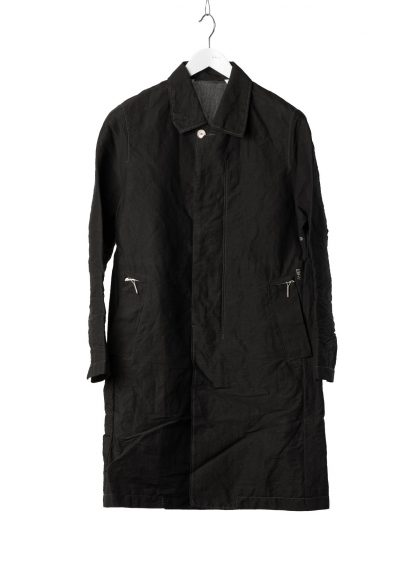 TAICHI MURAKAMI Men Work Coat Genome Paper Broad Herren Jacke Mantel printed paper cotton black hide m 2