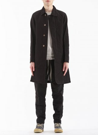 TAICHI MURAKAMI Men Work Coat Genome Paper Broad Herren Jacke Mantel printed paper cotton black hide m 3