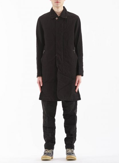 TAICHI MURAKAMI Men Work Coat Genome Paper Broad Herren Jacke Mantel printed paper cotton black hide m 4