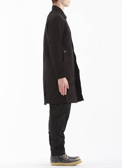 TAICHI MURAKAMI Men Work Coat Genome Paper Broad Herren Jacke Mantel printed paper cotton black hide m 6