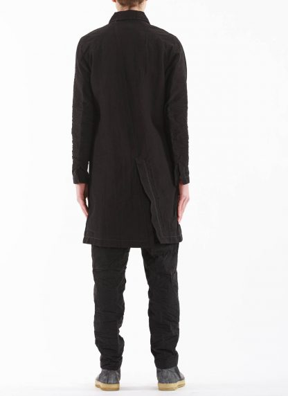 TAICHI MURAKAMI Men Work Coat Genome Paper Broad Herren Jacke Mantel printed paper cotton black hide m 7