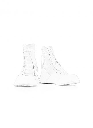 LEON EMANUEL BLANCK Distortion Featherweight High Top Sneaker DIS M HTS 01 kangaroo leather white hide m 1