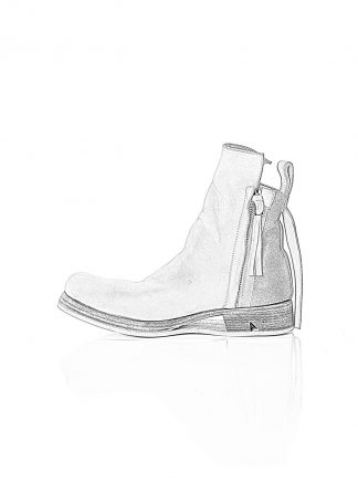 BORIS BIDJAN SABERI BBS Men BOOT1 Shoe Herren Schuh Stiefel Zip Ankle Boot F2519M horse leather light grey hide m 1