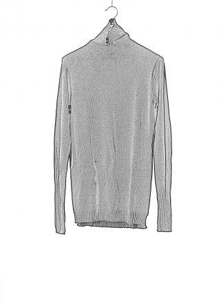 BORIS BIDJAN SABERI BBS Men High Neck Sweater KN6 FPI30003 Herren Pulli Pullover Sweater cashmere black hide m 1