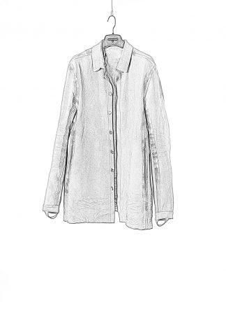 BORIS BIDJAN SABERI BBS Men Jacket Shirt SHIRT5 FMM20015 Flat Stitch Seam Taped Herren Jacke Hemd Lederhemd Lederjacke horse leather gum hide m 1