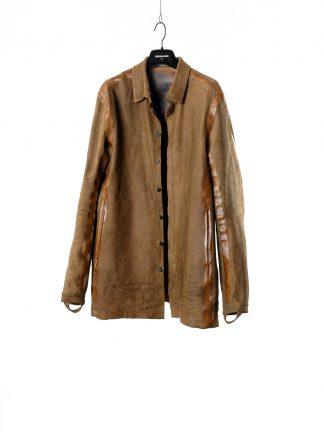 BORIS BIDJAN SABERI BBS Men Jacket Shirt SHIRT5 FMM20015 Flat Stitch Seam Taped Herren Jacke Hemd Lederhemd Lederjacke horse leather gum hide m 2