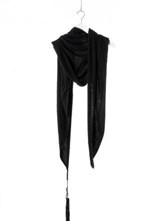 BORIS BIDJAN SABERI BBS Scarf KNFOUL1 FPI30003 cashmere black hide m 2