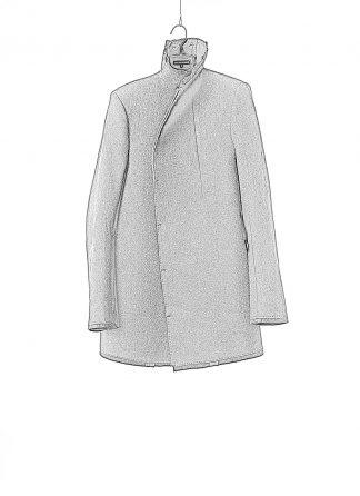 BORIS BIDJAN SABERI men jacket COAT SHORT F0508M herren jacke mantel cotton wool cashmere black hide m 1