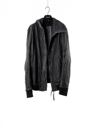 BORIS BIDJAN SABERI men jacket ZIPPER22 FMM20020 exclusively limited herren leder jacke horse leather black hide m 2