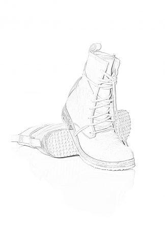 BORIS BIDJAN SABERI men shoe lace up boot BOOT2 herren schuh stiefel horse leather light grey hide m 1