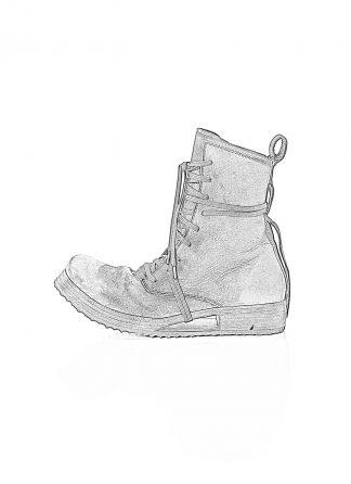 BORIS BIDJAN SABERI men shoe lace up boot BOOT2 herren schuh stiefel washed horse leather black hide m 1