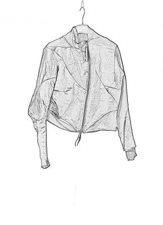 LEON EMANUEL BLANCK DIS W BMB 01 SJ1341 Women Distortion Bomber Jacket Damen Frauen Jacke linen viscose black hide m 1