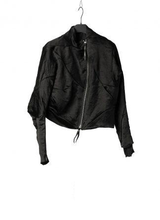LEON EMANUEL BLANCK DIS W BMB 01 SJ1341 Women Distortion Bomber Jacket Damen Frauen Jacke linen viscose black hide m 2