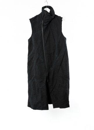 LEON EMANUEL BLANCK LEB Men Distortion Trench Vest DIS M TCVST 01 Herren Jacke Mantel Weste burning nettle cotton black hide m 22